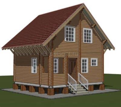 «Высоковск» — проект двухэтажного дачного дома из профилированного сухого клееного бруса 6х6 м под ключ