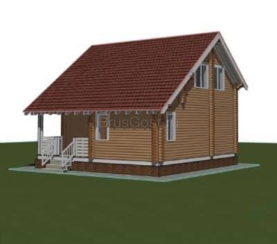 Проект загородного дома из бруса профилированного «Голицыно»
