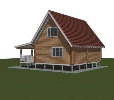 «Деулино» — проект двухэтажного дачного дома для постоянного проживания из профилированного сухого бруса под ключ