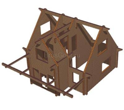 Проект дачного дома из профилированного бруса «Деулино»