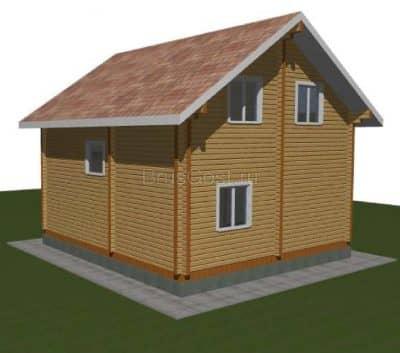 «Дмитров» — проект двухэтажного дачного дома из профилированного сухого бруса 7х8 м под ключ