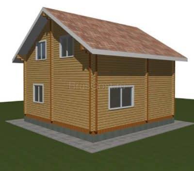 Проект дачного дома из бруса профилированного «Дмитров»