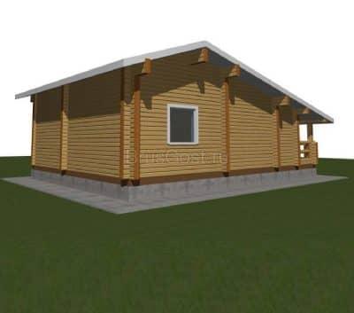 Проект дом-баня из бруса профилированного «Дубна»
