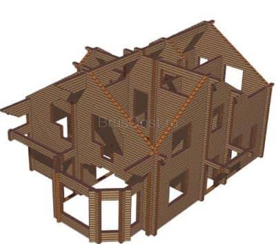 Проект дома из профилированного бруса «Жуков»