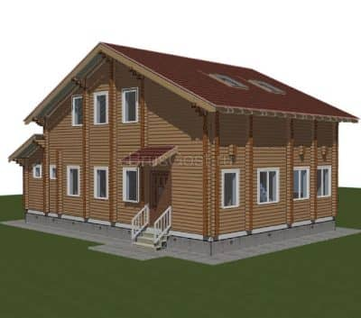 «Жуковский» — проект двухэтажного загородного дома из профилированного сухого клееного бруса под ключ