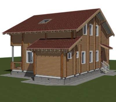 Проект загородного дома из бруса профилированного «Жуковский»