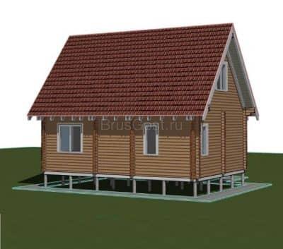 «Зеленоград» — проект двухэтажного дачного дома из профилированного сухого бруса 9х9 м под ключ
