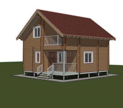 «Истра» — проект двухэтажного дачного дома из профилированного сухого бруса 7х8 м под ключ