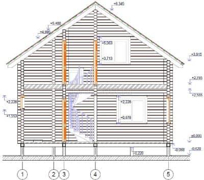 Проект дачного дома из бруса профилированного «Истра»