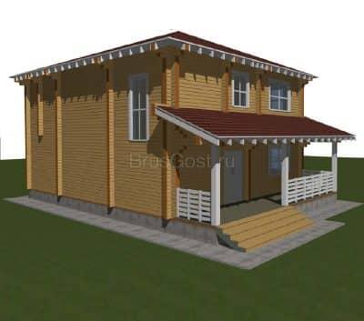 Проект загородного дома из бруса профилированного «Калуга»