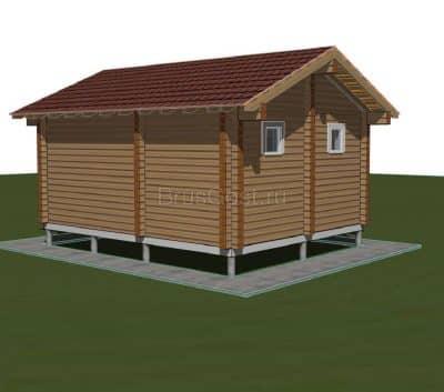 «Карабаново» — проект одноэтажной бани из профилированного сухого бруса