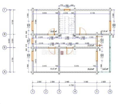 Проект дома из профилированного бруса «Клин»