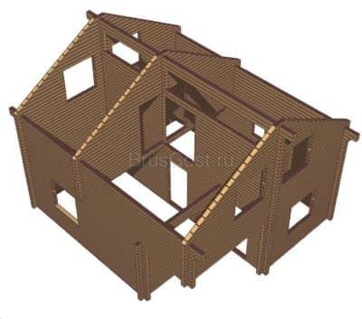 Проект дачного дома из бруса профилированного «Королев»