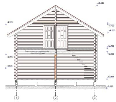 «Королев» — проект двухэтажного дачного дома из профилированного сухого бруса 7х8 м под ключ