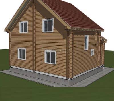 «Липецк» — проект двухэтажного дачного дома из профилированного сухого бруса 9х9 м под ключ