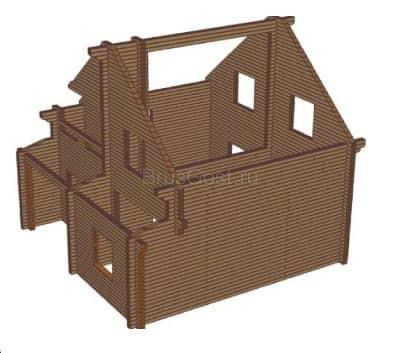 Проект дома из бруса профилированного «Липецк»