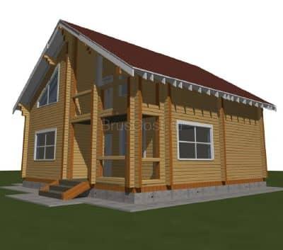 Проект дома из профилированного бруса «Можайск»