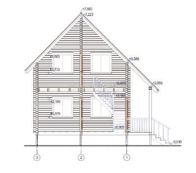 «Мытищи» — проект двухэтажного дачного дома из профилированного сухого бруса 6х8 м под ключ