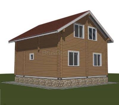Проект дачного дома из бруса профилированного «Одинцово»