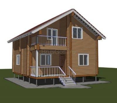 Проект дома из профилированного бруса «ОДИНЦОВО — 2»