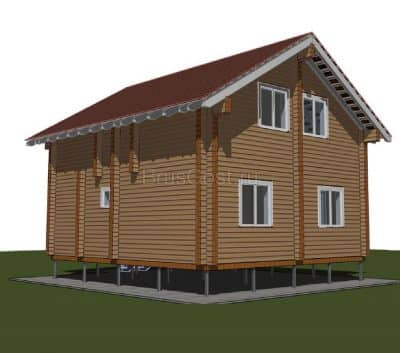 «ОДИНЦОВО — 2» — проект двухэтажного дома для постоянного проживания из профилированного сухого бруса 7х8 м под ключ
