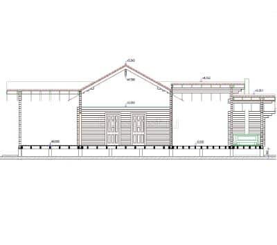 «Переславль — Залесский» — Гостевой отдноэтажный дачный коттедж из профилированного сухого клееного бруса под ключ
