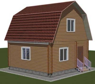 Проект дачного дома из бруса профилированного «Петровск»