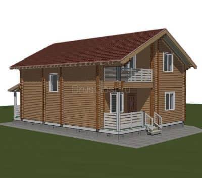 «Покров» — проект двухэтажного загородного дома из профилированного сухого бруса 9х9 м под ключ