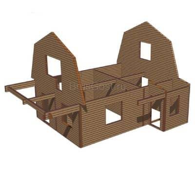 Проект дачного дома из профилированного бруса «Петушки»