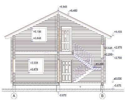 Проект загородного дома из бруса профилированного «Покров»
