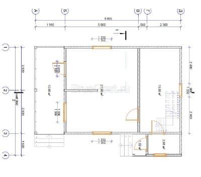«Петушки» — проект двухэтажного дачного дома с верандой из профилированного сухого бруса 7х9 м под ключ
