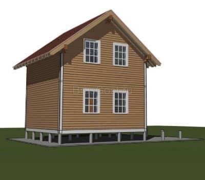 Проект дома из профилированного бруса «Пушкино»