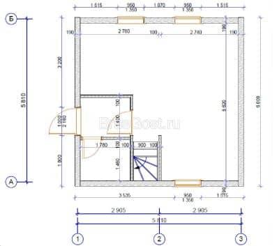«Пушкино» — проект двухэтажного дачного дома из профилированного сухого бруса 6х6 м под ключ