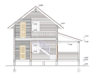 «Пушкино-2» — проект двухэтажного дачного дома из профилированного сухого бруса 6х9 м под ключ