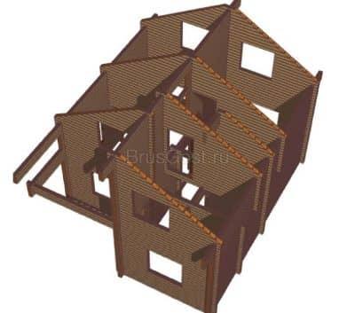 Проект дачного дома из профилированного бруса «Ростов»