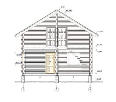 «Ростов» — проект двухэтажного дачного дома из профилированного сухого клееного бруса 7х8 м под ключ