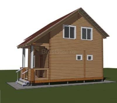 Проект дома из профилированного бруса «Струнино»