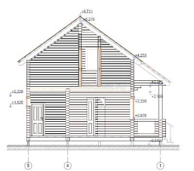«Струнино» — проект двухэтажного дачного дома из профилированного сухого бруса 7х8 м под ключ