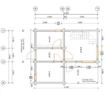 «Видное» — проект двухэтажной бани из профилированного сухого бруса