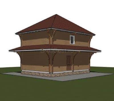 Проект дома из бруса профилированного «Талдом»