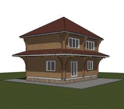 «Талдом» — проект двухэтажного коттеджа из профилированного сухого бруса 7х9 м под ключ
