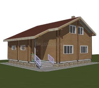 Проект дома из бруса профилированного «Троицк»