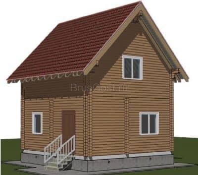 Проект дачного дома из профилированного бруса «Фрязино»