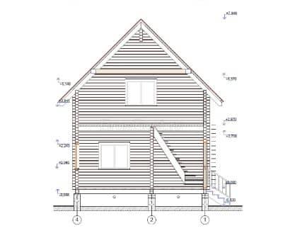 «Фрязино» — проект двухэтажного дачного дома из профилированного сухого клееного бруса 6х6 м под ключ