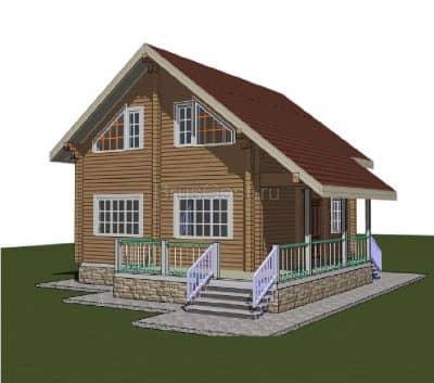 Проект дома из бруса профилированного «Щелково»