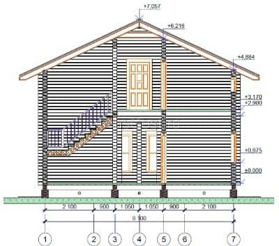 Проект загородного дома из профилированного бруса «Юбилейный»