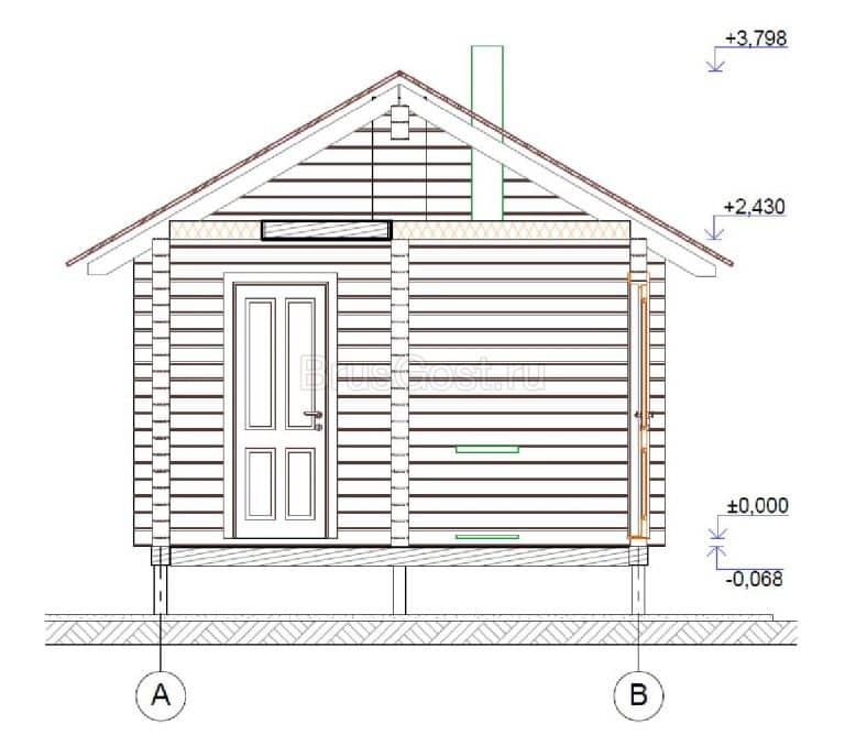 «Видное-2» — проект одноэтажной бани из профилированного бруса