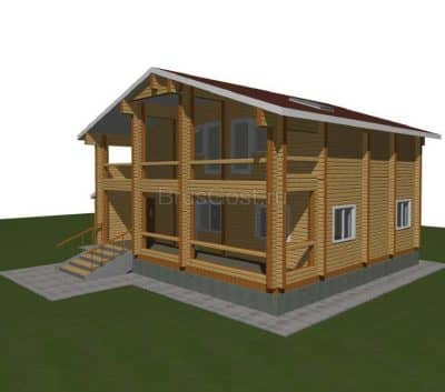 Проект дома из бруса профилированного «Ярославль»