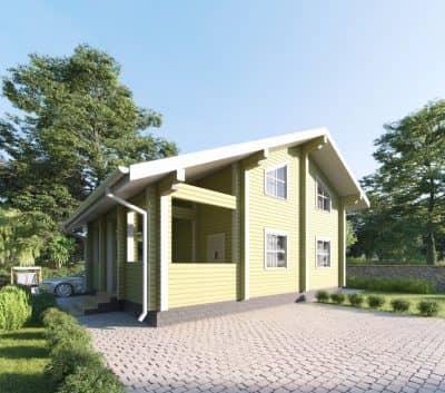 «Александров» — проект двухэтажного дома для постоянного проживания из профилированного сухого бруса под ключ