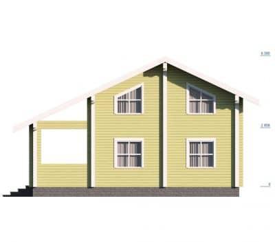 Проект дома из бруса профилированного «Александров»